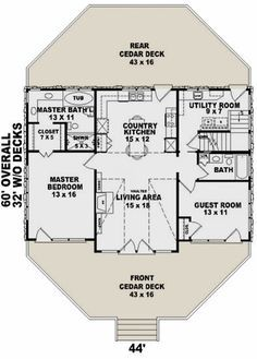 Pin On Home Plans 1000 1499 Square Ft