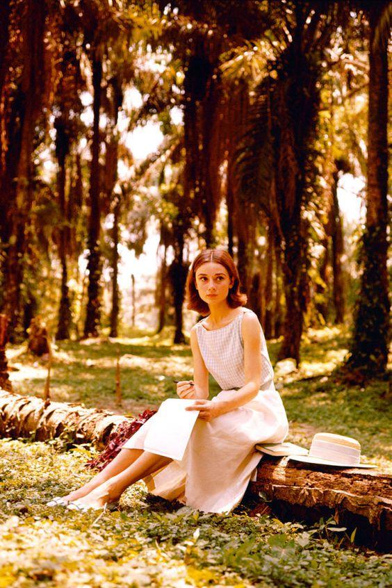 Audrey Hepburn, 1955.