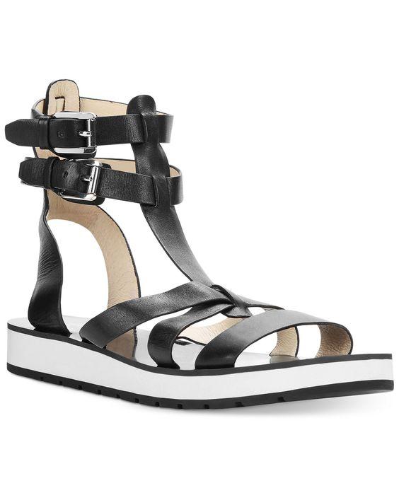 MICHAEL Michael Kors Judie Gladiator Footbed Sandals - MICHAEL Michael Kors - Shoes - Macy's