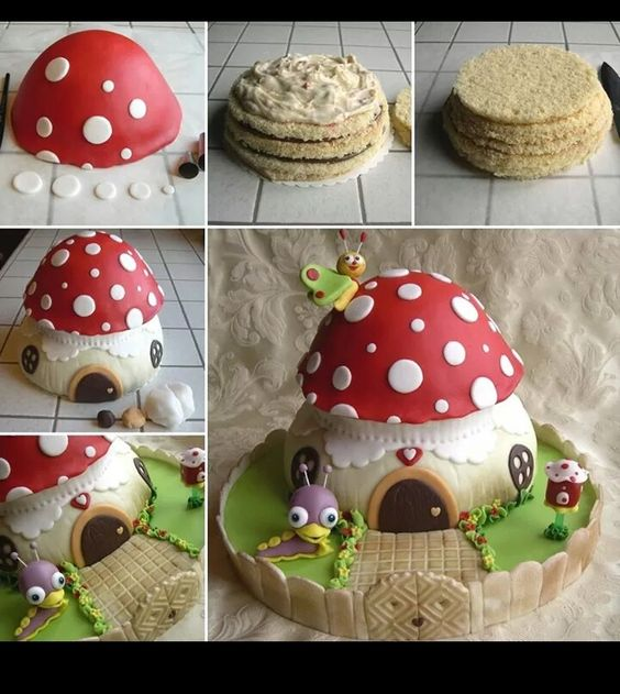 Cute toadstool cake