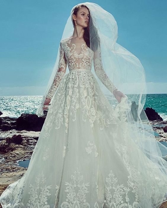 The #Spring2017 collection from #zuhairmurad is filled with princess-style gowns and sheer-panelled sheaths that fans of his line are sure to fawn over. WedLuxe