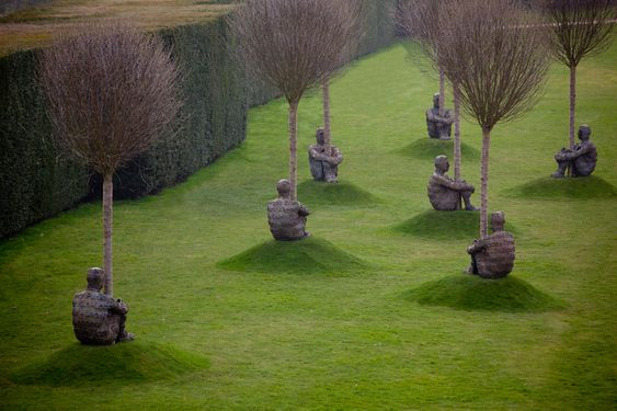 Jaume Plensa sculptures in Wakefield