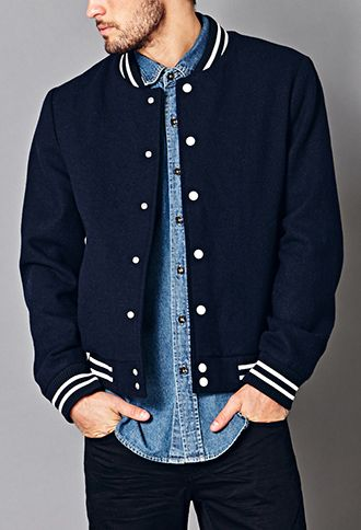 Prep School Varsity Jacket | 21 MEN - 2040495632 Forever Holiday Wish List Forever21.com #ForeverHoliday