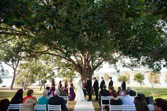 Awaba House NSW Outdoor Wedding Ceremony Somethingbluephotographyau