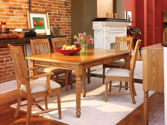 Amish Jackson Solid Top Dining Room Table - Keystone Collection