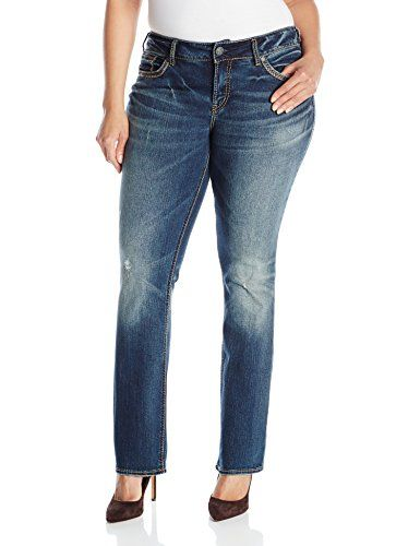 Silver Jeans Junior&39s Plus-Size Suki Mid Rise Baby Bootcut Jean