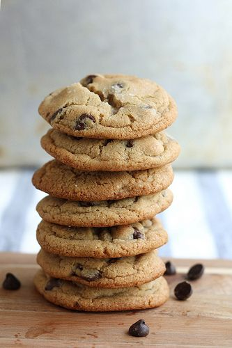 Brown Butter Chocolate Chip Cookies by Completely Delicious, via Flickr (adding caramel bits!)