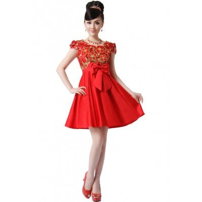 Sequined Embroidery Cheongsam
