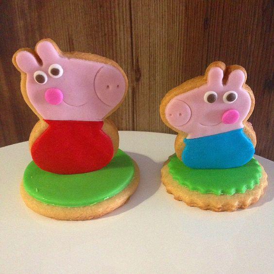 Biscoitos decorados Peppa Pig   Peppa Pig Cookies