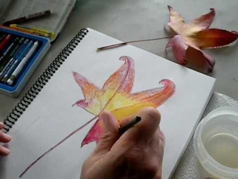 Watercolor crayon tutorial
