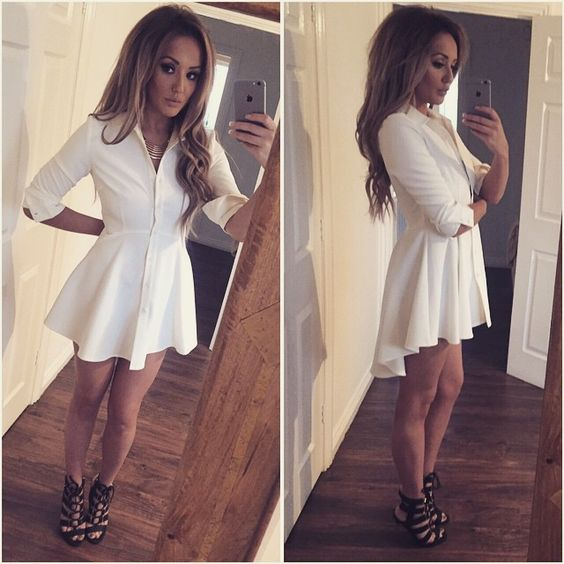 """ #NYE dress sorted!! My skirt/shirt dress from  @inthestyleUK , part of my range #nostalgia OBVS """