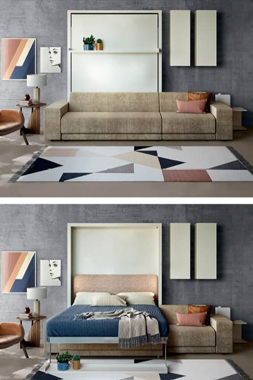 Transform Your Living Room Into A Bedroom With A Murphy Bed Sofa Bed Design Sofa Design Furniture Murphy bed in living room