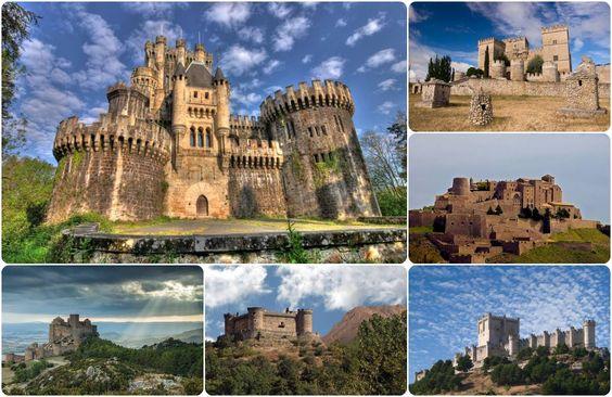 Castillos de Butrón, Ampudia, Cardona, Loarre, Mombeltrán y Peñafiel. Spain