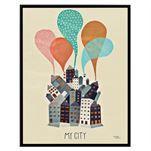 Michelle Carlslund Poster groß - My City - Michelle Carlslund Illustration
