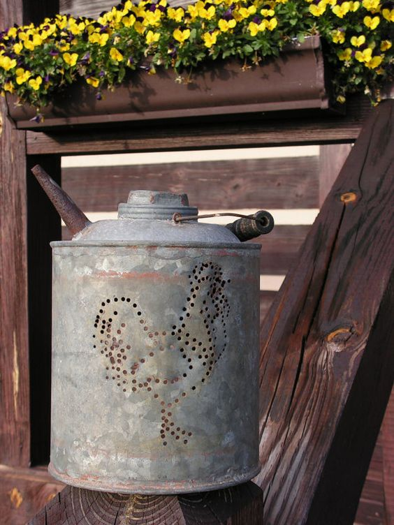 Vintage Repurposed Kerosene Can Rooster Luminary by ArtfulHeart, $22.00