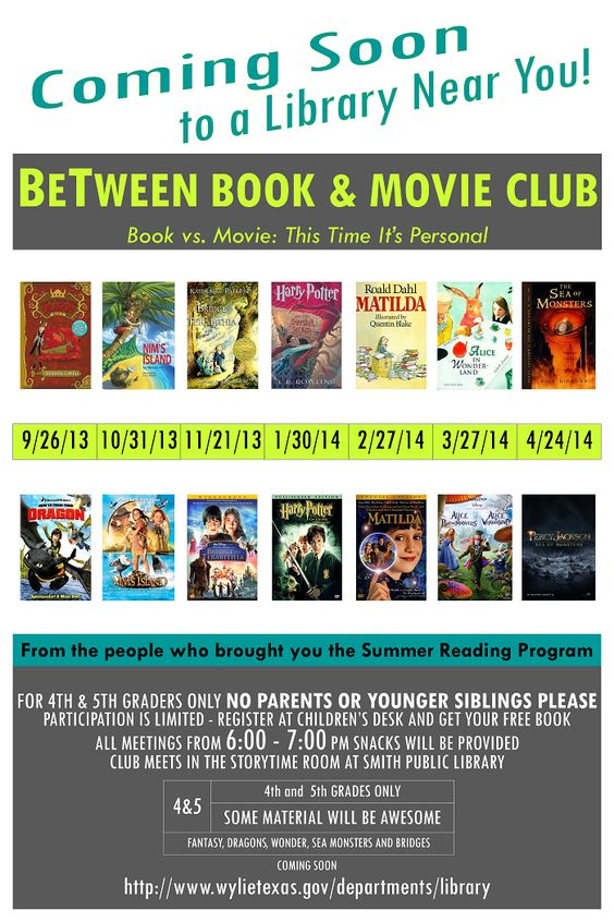 BeTween Book Club  Poster | Wylie TX