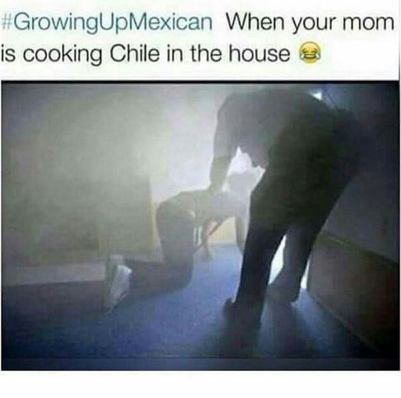 Mexican humor, cooking chile