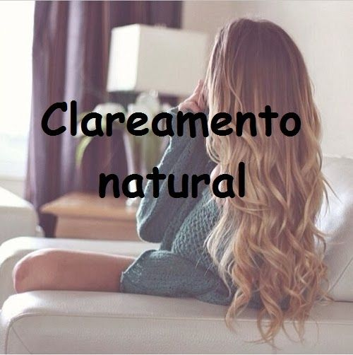 Garota é...: Clarear cabelos naturalmente! #dicadasemana