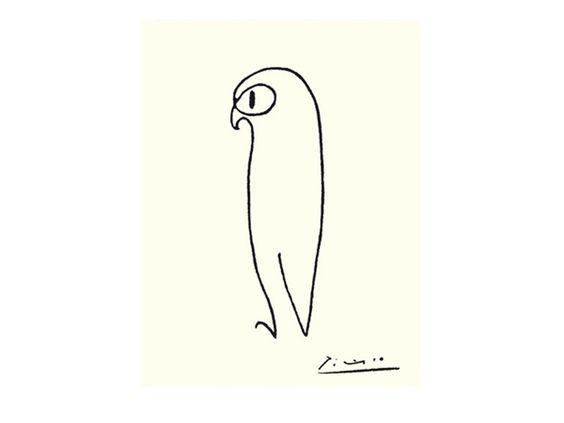 Anjas' Theme Of The Week: Camel week post 2: The one line Camel by Pablo Picasso