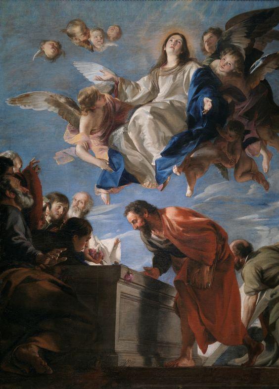 Sabemos, además, que Dios dispone todas las cosas para el bien de los que lo aman, de aquellos que él llamó según su designio. (Romanos 8:28) // La Asunción de la Virgen / The Assumption of the Virgin // ca. 1665 // Juan Martín Cabezalero // Museo del Prado