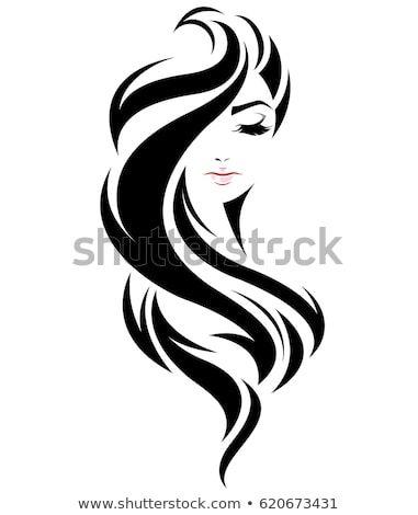 Illustration Of Women Long Hair Style Icon Logo Women Face On White Background Vector Silhouette Art Woman Face Long Hair Women