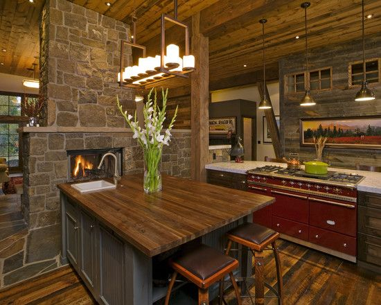 Beautiful Rustic Kitchen By Fedewa Custom Worksu0027s   Design, Pictures,  Remodel, Decor And Ideas | My Heartu0027s At Home | Pinterest | Rustic Kitchen,  Gas ...