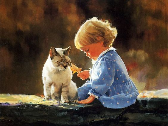 children in paintings | ... Paintings of Heartwarming Childhood Moments 27 : painting_children_kjb