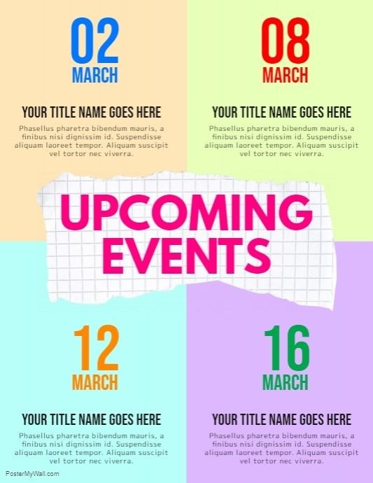 Upcoming Events Flyer Template from i.pinimg.com