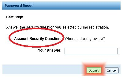 How To Reset Aol Mail Password- security question