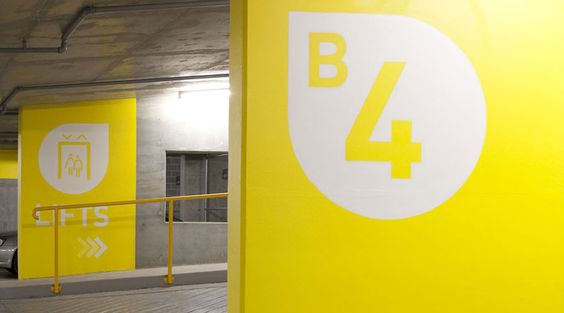 Parking Garage Wayfinding Environmental Graphics