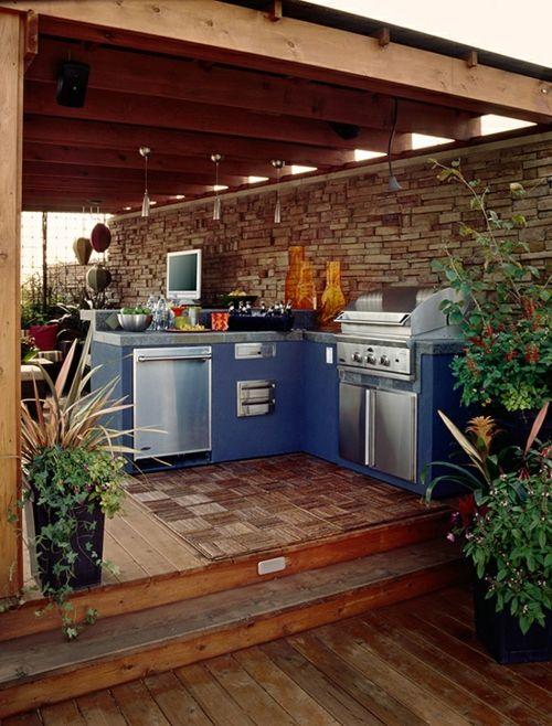 Praktische Kuche Im Garten Gestalten Garten Gestalten Garten Kuche Grill Kuche