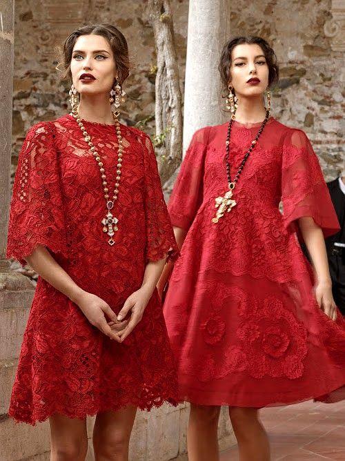 Dolce &amp- Gabbana - MISS MILLIONAIRESS &amp- CO.™ - Pinterest - Red lace ...