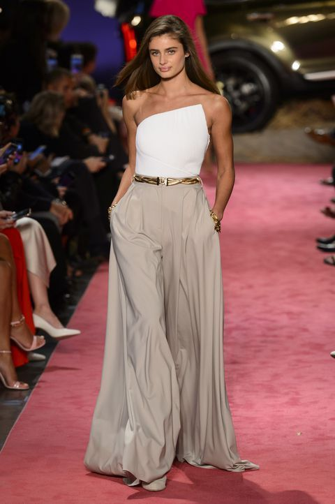 style inspiration + fashion + runway + Brandon Maxwell | Julie de la Playa spring fashion trends, high waisted pants, summer top