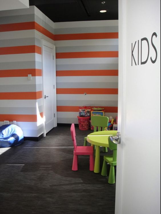 Fitness studio daycare room by jessica turf design for Fitness 19 kids room