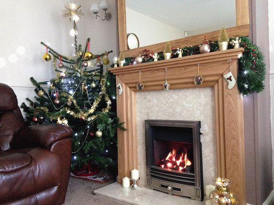 The Mayfair oak fire surround (sparkles not included) www.oakfiresurrounds.co.uk