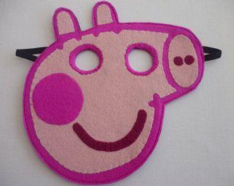 Felt Peppa Pig máscara / brinquedo / vestir / fantasia para crianças