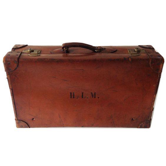 Antique English Suitcase : HLM