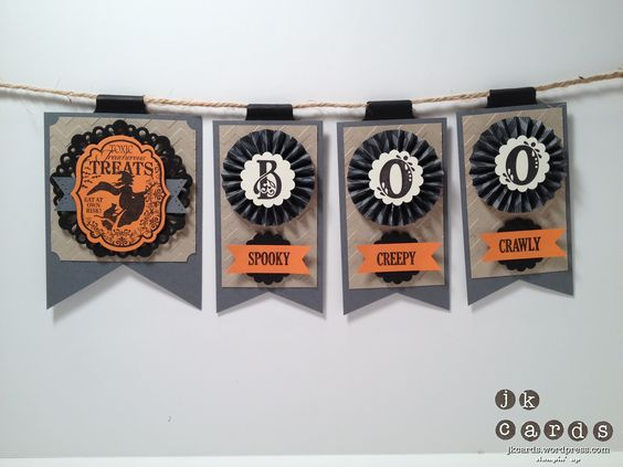 Stampin' Up! Halloween Boo Banner by JK Cards: Halloween Projects, Halloween Cards Gifts, Cards Haloween, Fall Cards, Banners Garlands, Holiday Cards, Cards Crafts, Cards Halloween, Banners Pennants