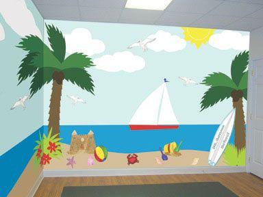 Kids ocean wall murals church murals kids ministry for Classroom wall mural