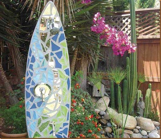 Surfboard shower: