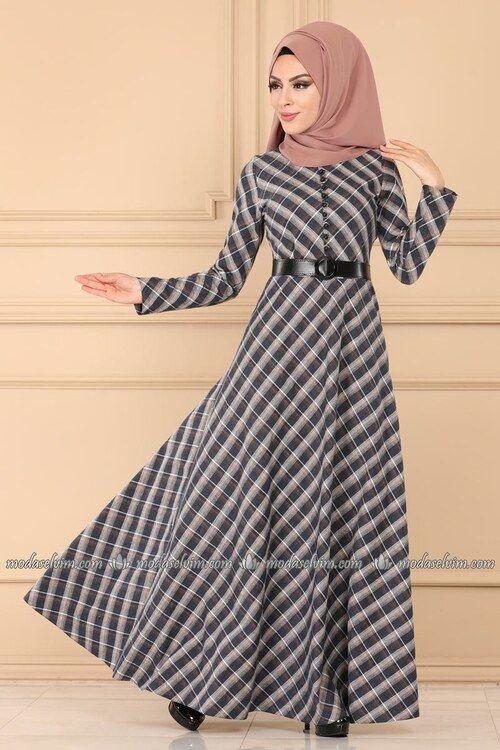 Modaselvim Elbise Sifon Tesettur Elbise 4198ef311 Haki Islami Giyim Ziyafet Elbiseler Elbise Modelleri