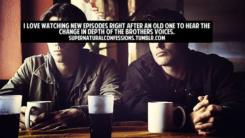 Bahaha! They do get SO DEEP. I now have this insane affinity for guys with deep voices and it's becoming a problem. :P #Supernatural