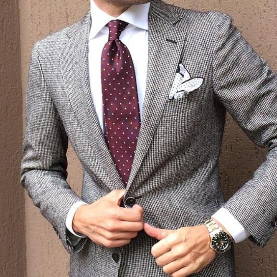 Grey on white always looks good #MensStyle