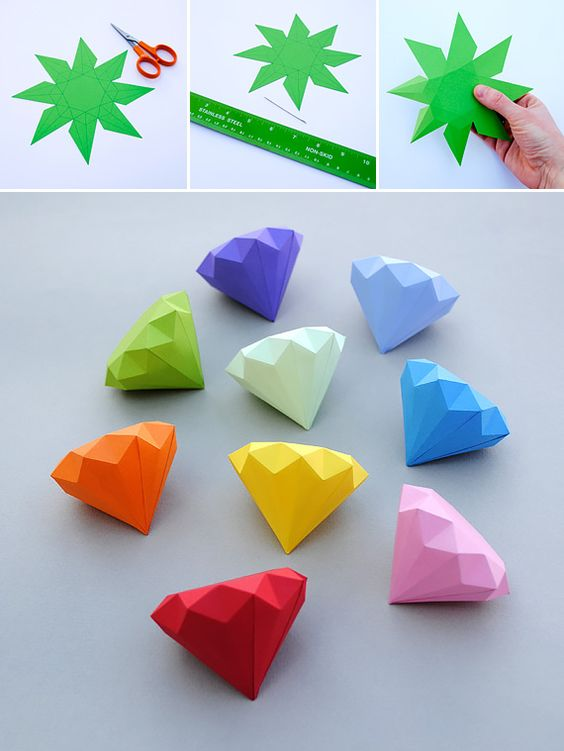 Chaos emeralds out of paper