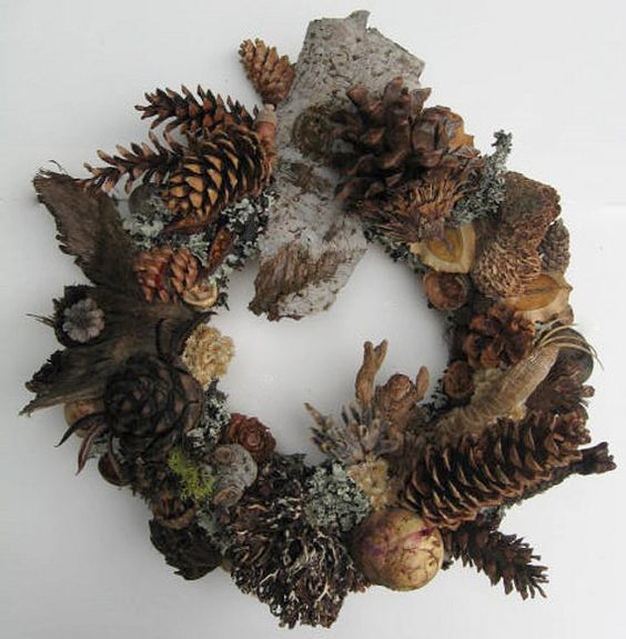 Seed pod wreath