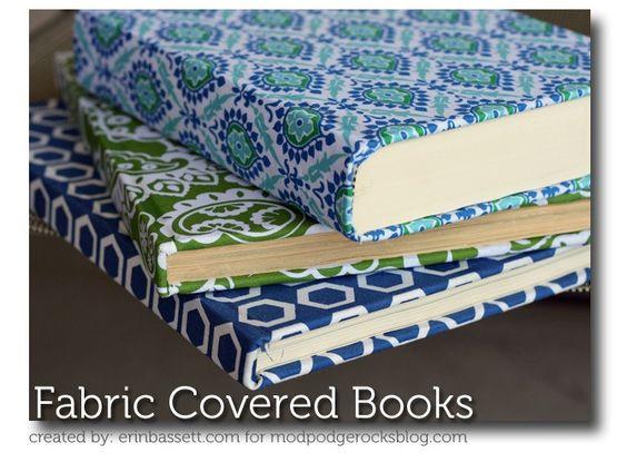 Mod Podge fabric covered books. ~ Mod Podge Rocks!
