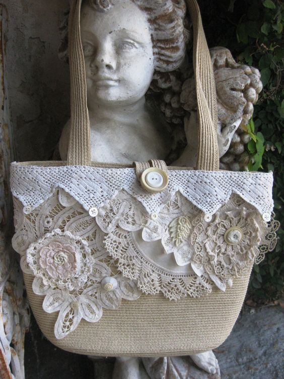 Upcycled Shabby Chic Purse Collaged with by MakeSomethingHappen: