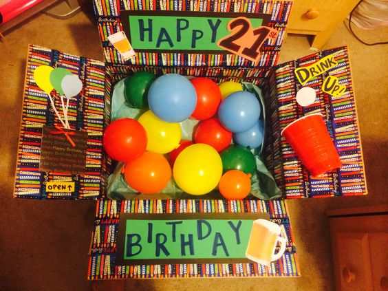 21st Birthday Care Package Josue 21 Bday Pinterest