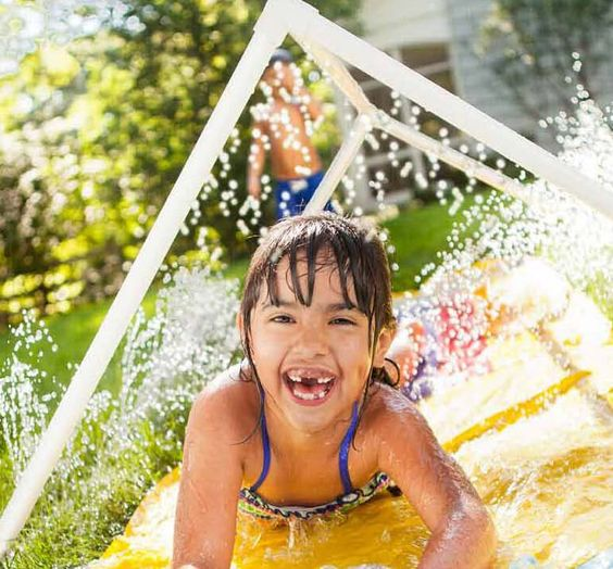 Make waves on a summer afternoon with a simple PVC water tunnel and a hose for only about $18.