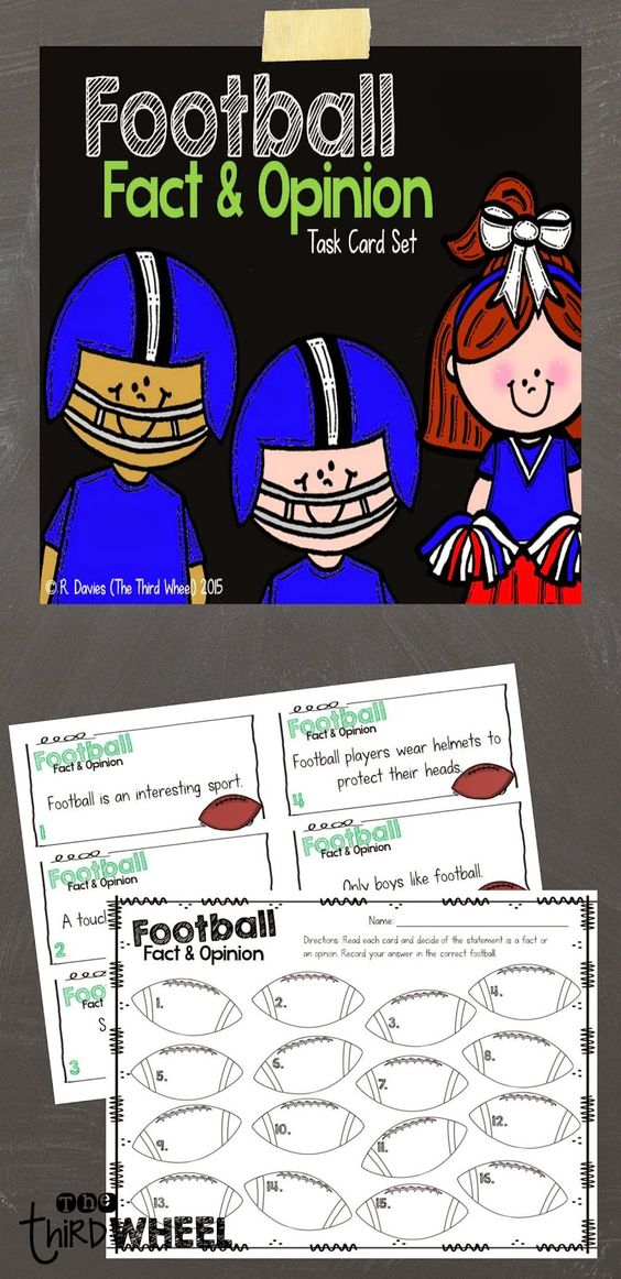 Classroom Freebies Too: Are you ready for some football...task cards?